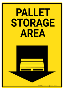 Pallet Storage Area - Rack Mounted Sign
