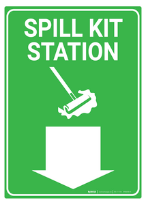 Spill Kit Station - Rack Mounted Sign