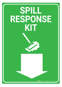 Spill Response Kit - Rack Mounted Sign