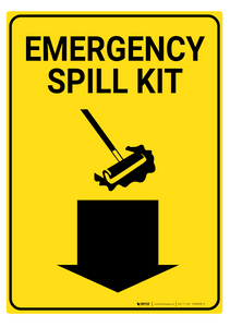 Emergency Spill Kit - Rack Mounted Sign