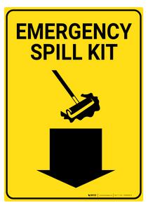 Emergency Spill Kit - Rack Mounted Sign