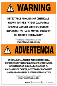 Prop 65 Facility Bilingual (Spanish) – Label