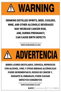 Prop 65 Alcohol Bilingual (Spanish) – Label