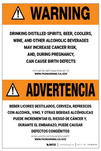 Prop 65 Alcohol Bilingual (Spanish) – Label