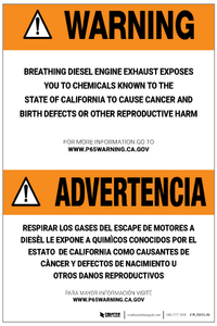 Prop 65 Parking Garage Bilingual (Spanish) – Label