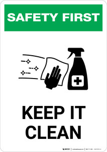 Safety First: Keep It Clean with Icon Portrait - Wall Sign