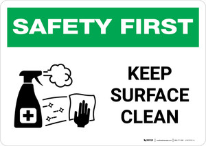 Safety First: Keep Surface Clean with Icon Landscape - Wall Sign