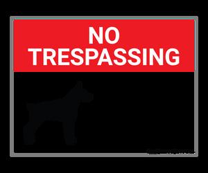 No Trespassing - Guard Dog - Wall Sign