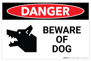 Danger - Beware of Dog - Wall Sign