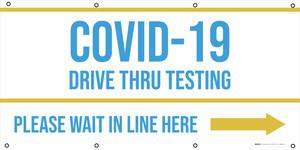 COVID-19 Drive Thru Testing Right Arrow - Banner