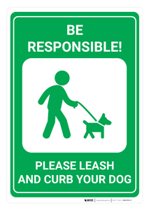 Please Leash and Curb Your Dog - Wall Sign