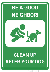 Clean Up After Your Dog - Wall Sign