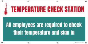 Temperature Check Station All Employees Required - Banner