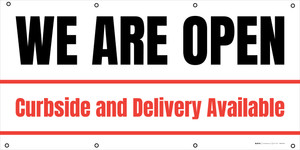 We Are Open Curbside And Delivery Available - Banner
