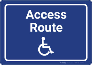 ADA Access Route with Icon Landscape - Wall Sign