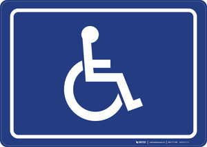 ADA/Handicap Symbol Landscape - Wall Sign