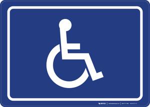 ADA/Handicap Symbol Landscape - Wall Sign