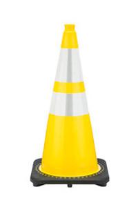 "JBC™ 28"" Yellow PVC Revolution Series Traffic Cone with Reflector"