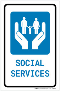 Social Services with Icon Portrait v2 - Label
