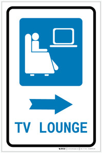 TV Lounge Right Arrow with Icon Portrait v2 - Label