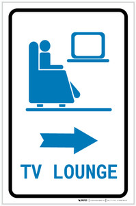 Tv Lounge Right Arrow with Icon Portrait - Label