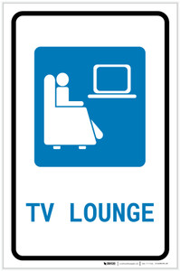 TV Lounge with Icon Portrait v2 - Label