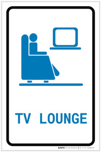 Tv Lounge with Icon Portrait - Label