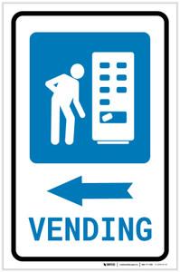 Vending Machine Left Arrow with Icon Portrait v2 - Label