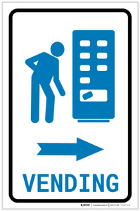Vending Machine Right Arrow with Icon Portrait - Label