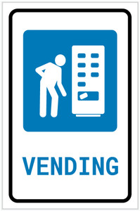 Vending Machine with Icon Portrait v2 - Label