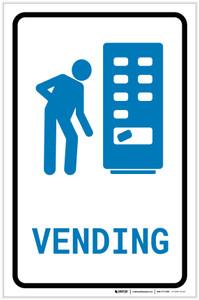 Vending Machine with Icon Portrait - Label