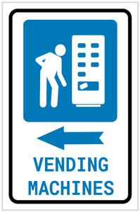 Vending Machines Left Arrow with Icon Portrait v2 - Label
