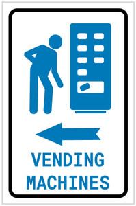 Vending Machines Left Arrow with Icon Portrait - Label