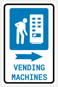 Vending Machines Right Arrow with Icon Portrait v2 - Label