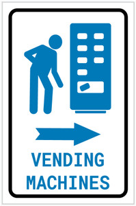 Vending Machines Right Arrow with Icon Portrait - Label
