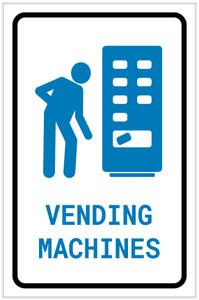 Vending Machines with Icon Portrait - Label