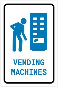 Vending Machines with Icon Portrait - Label