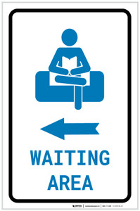 Waiting Area Left Arrow with Icon Portrait - Label