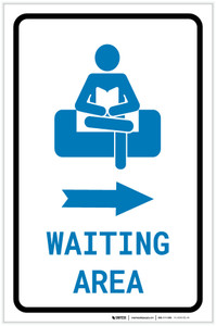 Waiting Area Right Arrow with Icon Portrait - Label