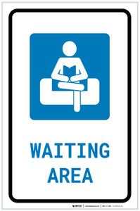Waiting Area with Icon Portrait v2 - Label
