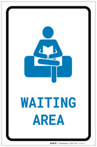 Waiting Area with Icon Portrait - Label