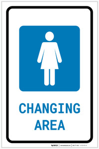 Womens Changing Area with Icon Portrait v2 - Label