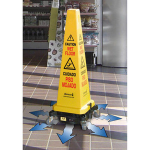 "Hurricone™ 36"" Cordless Floor Dryer Safety Caution Lamba Cone"