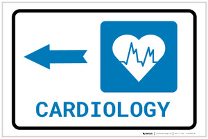 Cardiology Left Arrow with Icon Landscape - Label