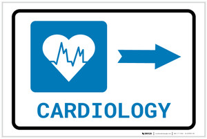 Cardiology Right Arrow with Icon Landscape - Label