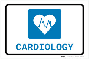 Cardiology with Icon Landscape - Label
