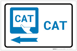 CAT Left Arrow with Icon Landscape - Label