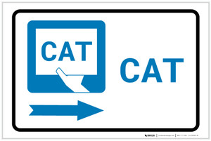 CAT Right Arrow with Icon Landscape - Label