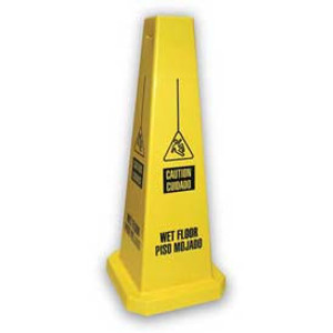 "Impact® Caution Wet Floor Lamba Caution Cone – 4-Sided, 25"" (Pkg Qty 5)"