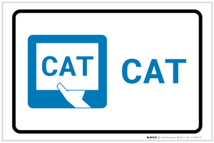 CAT with Icon Landscape - Label